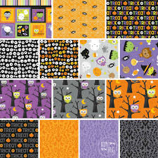 riley blake glow in the dark halloween fabric bundle fat quarter