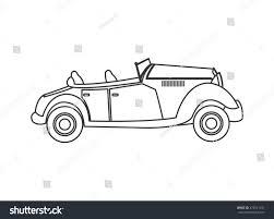 vintage convertible flat design vintage convertible car icon stock vector 475541341