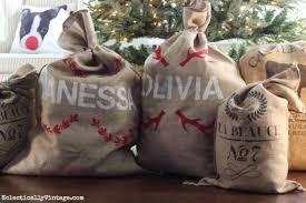 santa sacks how to make personalized santa sacks home and garden