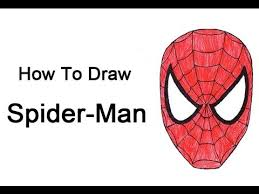 draw spider man head mask