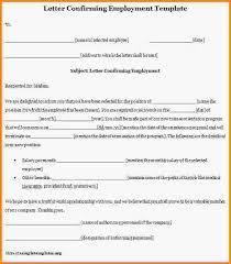 letter of employment template sample employment verification