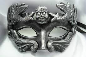Skull Mask Halloween Men U0027s Half Face Halloween Sugar Skull Silver Skull Mask