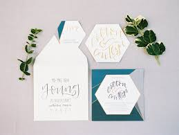 these geometric wedding invites are everything your modern dreams