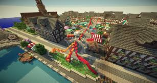 Minecraft City Maps Greenfield Map Dynmap Big City Download Minecraft Building Ideas
