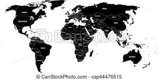 world map black and white with country names pdf black political world map with country borders and white vector