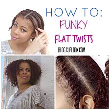How To Do Flat Twist Hairstyles by Blog Curlbox Curly Hair Products How To Funky Flat Twists