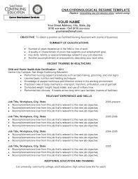 Certified Nursing Assistant Resume Templates Cna Certified Nursing Assistant Resume Sample Job And Resume