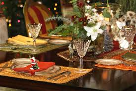 table setting western style furniture awesome christmas decoration ideas for party table