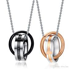 couple necklace chains images Wholesale endless love couple necklace pendant stainless steel jpg