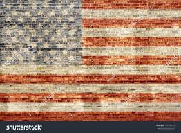 How To Paint American Flag Painted American Flag On Old Brick Stock Illustration 184796672