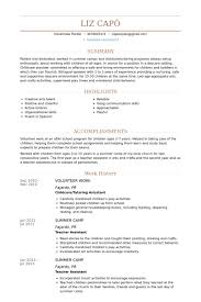 Resume For Work Experience Sample by Volunteer Work Resume Samples Visualcv Resume Samples Database