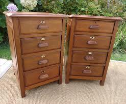 bureau marine ancien paire de petits meubles chevets classeurs bureau officier de marine