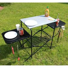 outdoor grill prep table grilling table chefs basics select outdoor folding grilling cing