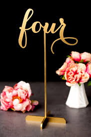 gold wedding table numbers freestanding gold wedding table numbers aisle society