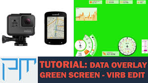 how to green screen cycling data onto a video strava virb