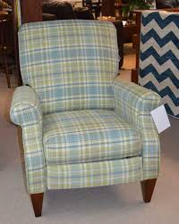 la z boy high leg recliner in abernathy plaid upholstery maine