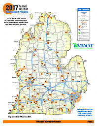 Michigan Map With Counties by Use This Construction Map To Plan Michigan Summer Road Trips