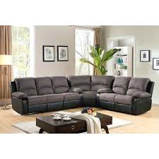 Two Tone Reclining Sofa Sectional Westin Contemporary Mocha Fabric Recliner Sofa