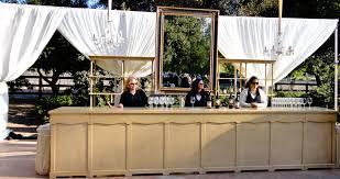 shabby chic bar set with large mirror bella vista designs