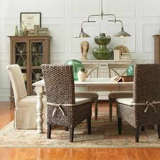 woven leather curved back dining room or side chairs at view decor