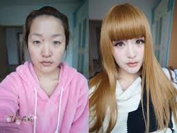 chinese woman pletely transforms herself with makeup