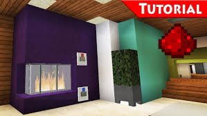 Modern Fireplace Easy Working Fireplace Minecraft Redstone Tutorial For