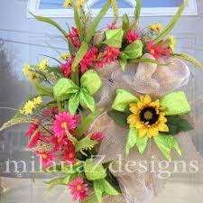 Sunflower Mesh Wreath Shop Baby Mesh Wreaths On Wanelo