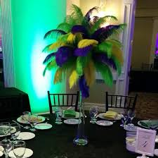 Table Decorations With Feathers Mardi Gras Ostrich Feather Centerpiece Kits With 24