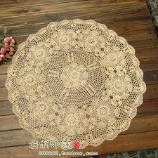 Lace Table Overlays Round Tablecloth Beige Lace Table Cover For Wedding Table Overlay