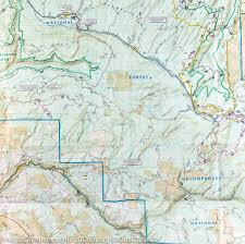 Plateau Of Mexico Map by Trail Map Of Uncompahgre Plateau South Colorado 146