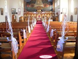 church wedding decorations on pew and aisle latest home