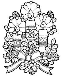 lovely candles christmas eve christmas coloring