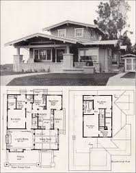 Floor Plans For Bungalows Tudor House Plan Seattle Vintage Residential Architecture 1908