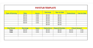 free paycheck stub template word download a free pay stub