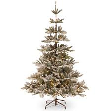 tree company 7 5 ft pre lit artificial snowy imperial blue spruce