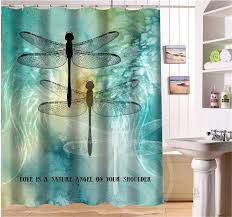 Dragonfly Shower Curtains Appealing Dragonfly Shower Curtains Designs With Get Cheap