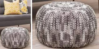 lovely pizazz knitted floor pouf free knitting pattern