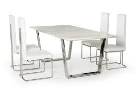 White Marble Dining Tables Heidi Modern Marble Dining Table