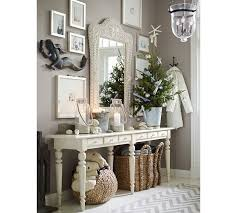 Pottery Barn Willow Table Arrangements Under On U0026 Around A Console Table Tivoli White By