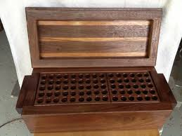 wooden pencil holder plans woodworking plans gun cleaning box to build pinterest