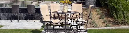 Bar Height Patio Dining Set Outdoor Bar Stools Heighturniture Patio Dining Swivel Chairs High