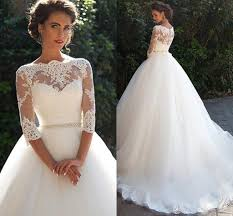 Vintage Lace Wedding Dress Vintage Lace Millanova 2016 Wedding Dresses Bateau Half Sleeves