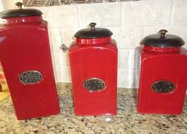 red canisters kitchen decor red kitchen canisters ceramic snaphaven com