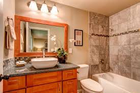 Glacier Bay Cabinet Doors by Craftsman Full Bathroom With Inset Cabinets U0026 Drop In Bathtub In