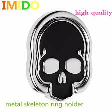 metal skeleton ring holder images Universal pop socket alloy halloween finger ring buckle high end jpg