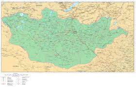 Population Map Of China by Maps Of Mongolia Detailed Map Of Mongolia In English Tourist