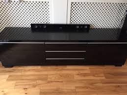 ikea tv unit bench besta burs black gloss in paisley