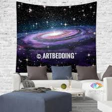 galaxy tapestry spiral galaxy in deep space with stars wall