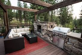 Outdoor Patio Kitchen Ideas Outdoor Kitchen Designs Featuring Pizza Ovens Fireplaces And