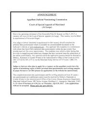 special writing paper notification of upcoming judicial vacancy court of special notification memorandum page 1 notification memorandum page 2 notification memorandum page 3